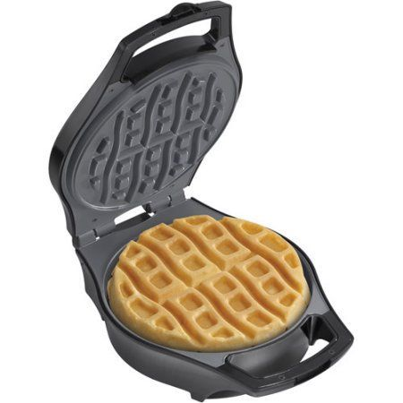 Hamilton Beach Mess-Free Belgian Style Waffle Maker, 26040, Black