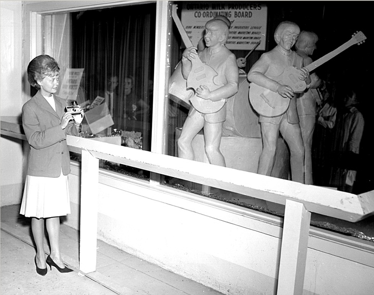 """The CNE Butter Sculpture Competition saw life-size """"Butter Beatles Replicas"""" in the 1960s. Who do you think would be the equivalent today?   MG5-1097"""
