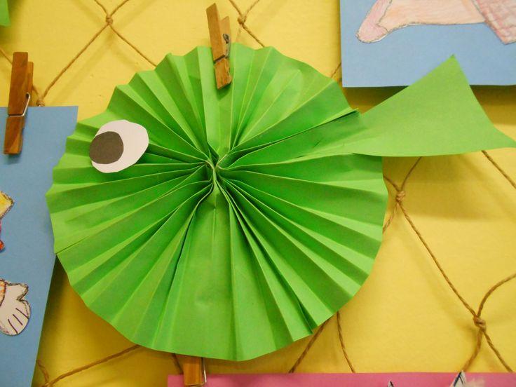 Ryba (skládání papíru do harmoniky).