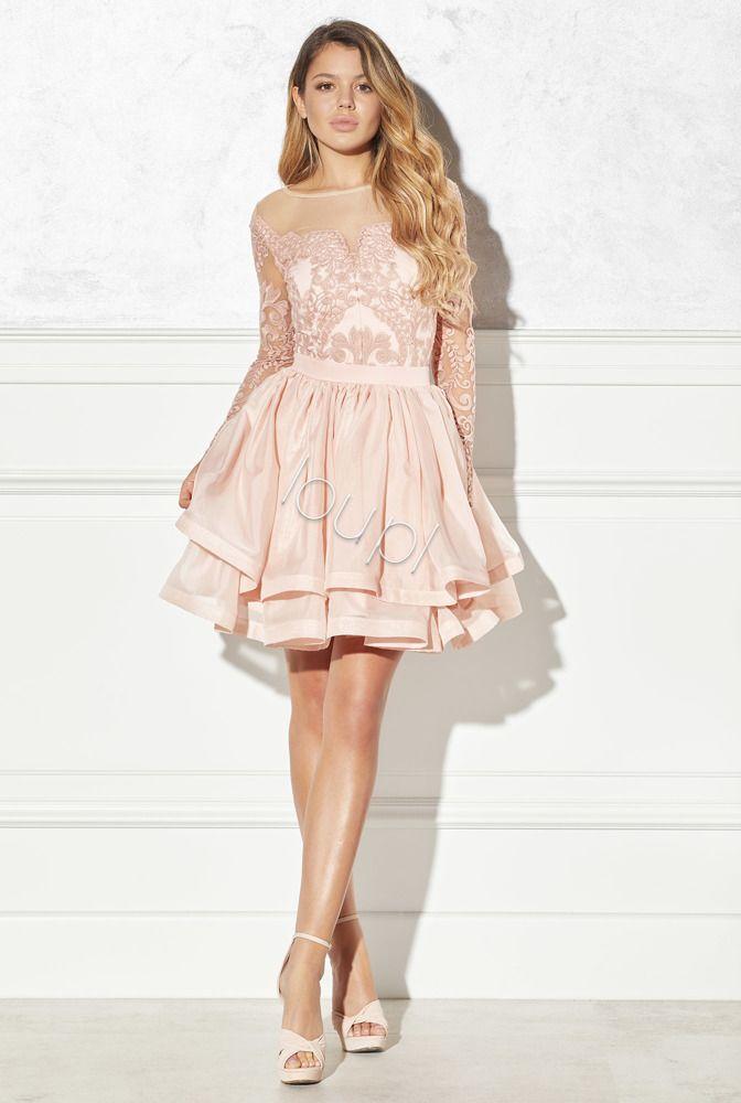 Solange Dirt Pink Dress With Lace Dresses Pink Dress