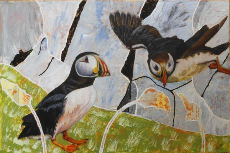 A Pair of Puffins – 24Steps Art and Design