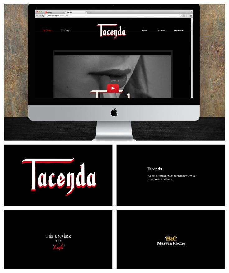 Web Design and Typography for Tacenda - Student Project by Harrison Fox