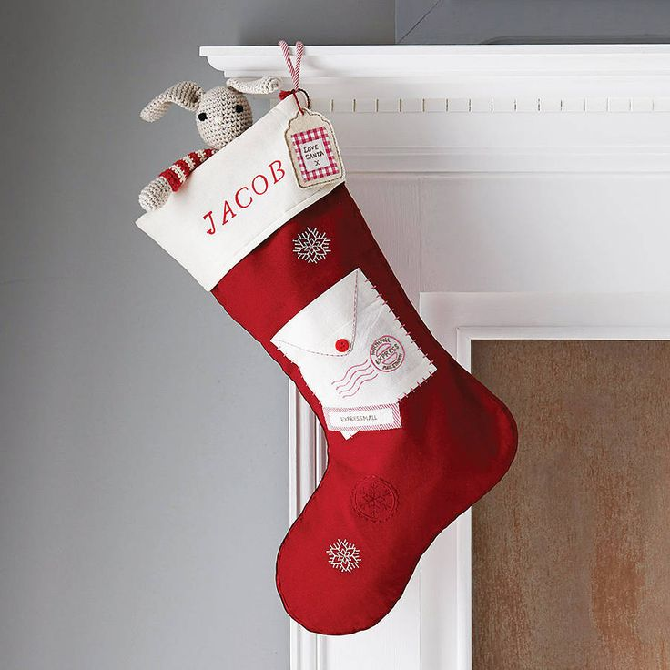 letter to santa stocking by lime tree interiors | notonthehighstreet.com