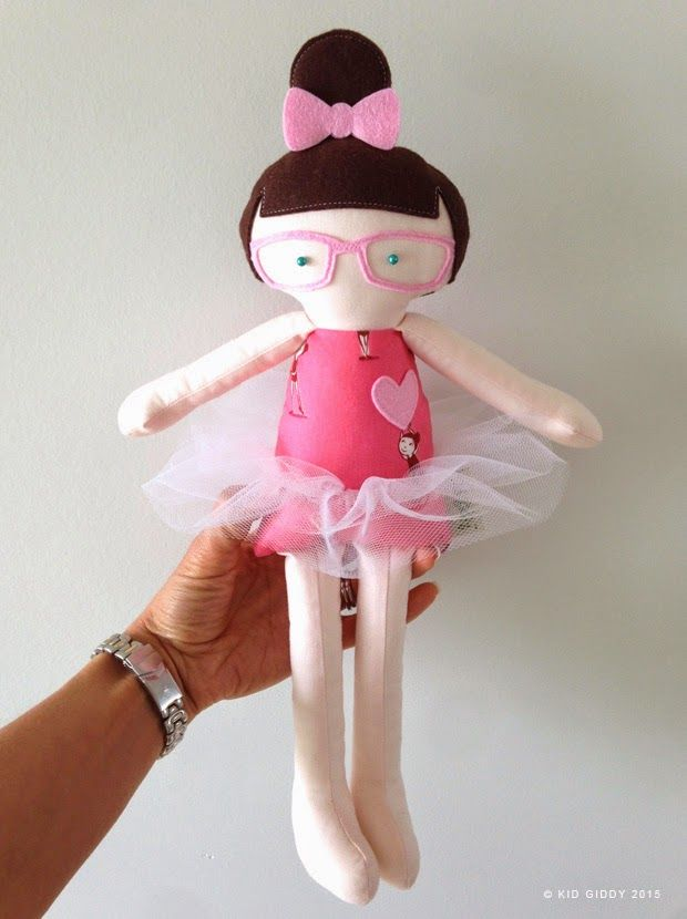 @Sizzix Kid Giddy Doll dies available now. Make any kind of doll you want - here's a Ballerina version inspired by the adorable Heather Ross fabric from @WindhamFabrics