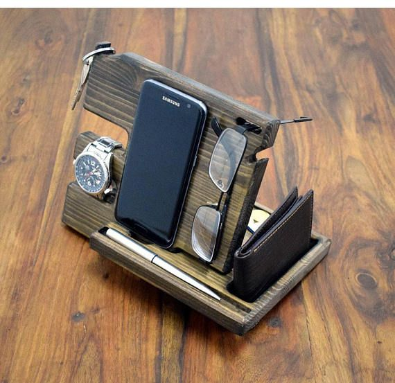 Christmas Gift For Men Desk Organizer Wood organizer