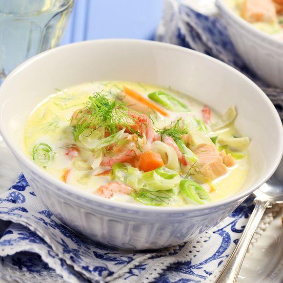 Recept på Krämig fisksoppa med räkor från - Hemmets Journal
