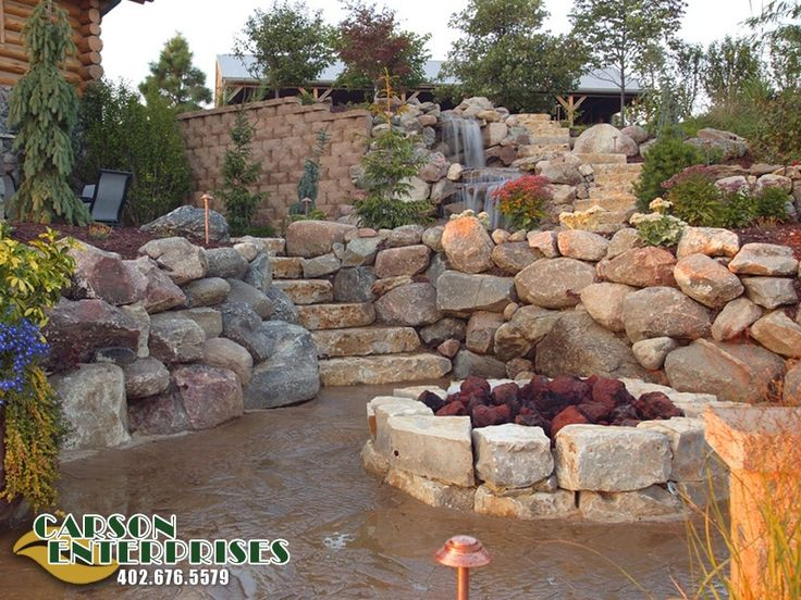 natural stone hardscapes retaining