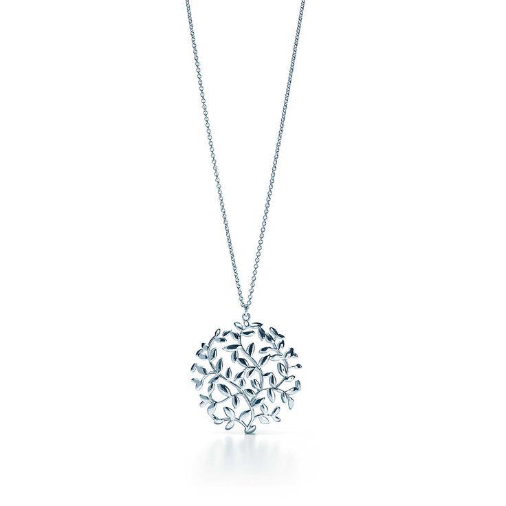 Olive Leaf Medaillonanhänger von Paloma Picasso® aus Sterlingsilber.   Tiffany & Co.