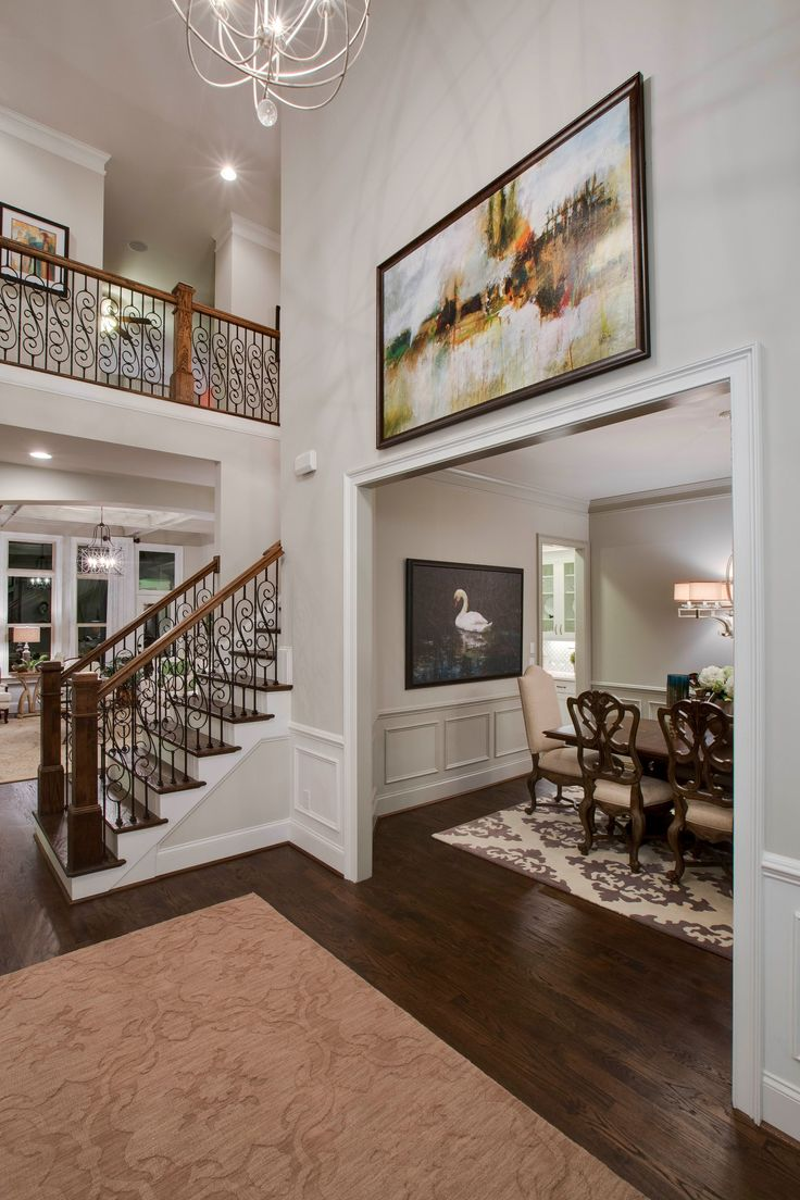 Best 25 two story foyer ideas on pinterest 2 story for Great room wall ideas
