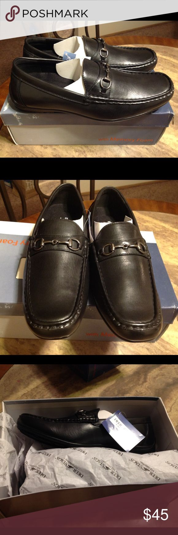 Deer Stags Manual Bit Loafers - Memory Foam Leather shoes with removal insoles.  Memory form and heel 1inch.  Brand new never worn with tags in the box. Deer Stags Shoes Loafers & Slip-Ons