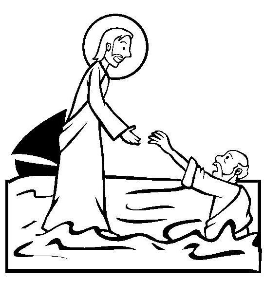 Free Bible Stories Coloring Pages Color In This Picture Of Jesus Walking On Water And Others With Our Library Online