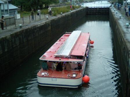 中島閘門(富山市) パナマ運河と同方式