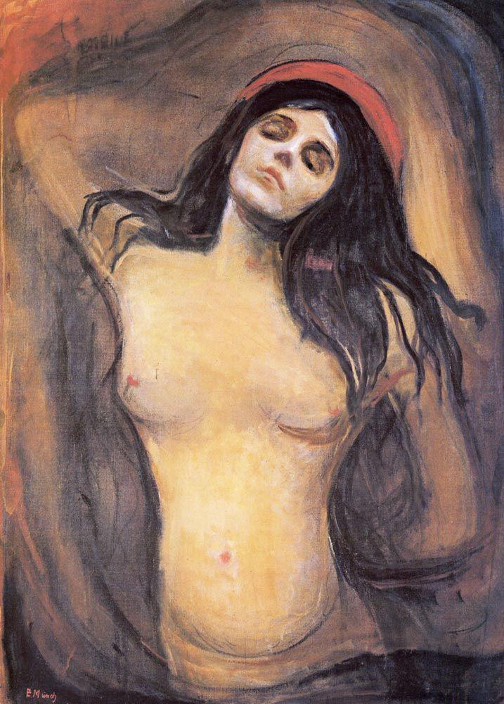 Edvard Munch.  Madonna, 1895. Bu tablonun canvas baskısını edinmek için resme tıklayınız. #canvastar #canvas #tablo #tablolar #baskı #resim #ressamlar #dekorasyon #tuval