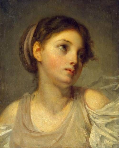 Cave to Canvas, Jean-Baptiste Greuze, Young Girl in a Lilac Tunic,...