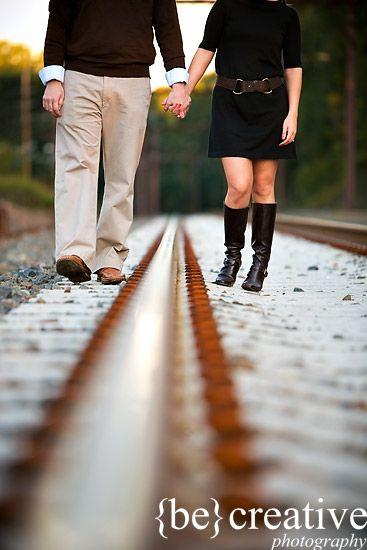 train tracks.... Boiler engagement shoot?!? Good thought.