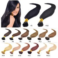 "18"" 20"" 22"" 24"" 50g/pack pre bonded stick hair I tip Keratin hair extensions 100% Indian Human Remy Hair I Tip Hair Extension"