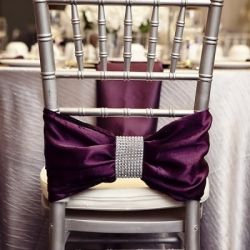 Dress up your reception chairs with these fun and creative ideas! (image via Society Bride)