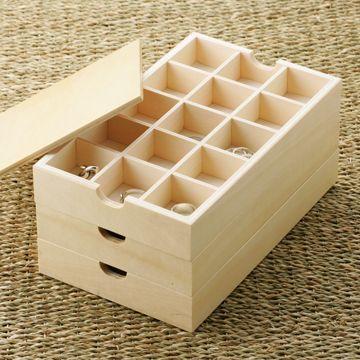 ITUTU/アクセサリー重ね箱 4410yen たっぷりしまえて見た目もシンプル