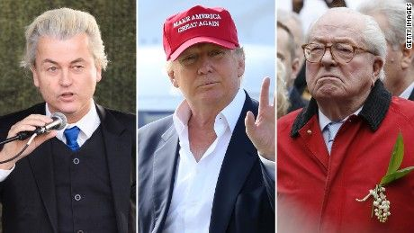 DONALD TRUMP FINDS ALLIES ON EUROPE'S RIGHT