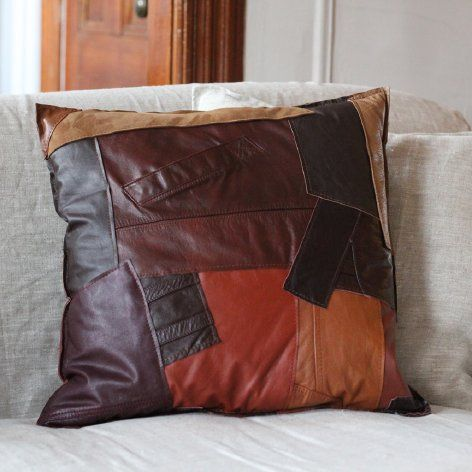 Design Obsession: reMade Leather Throw Pillow