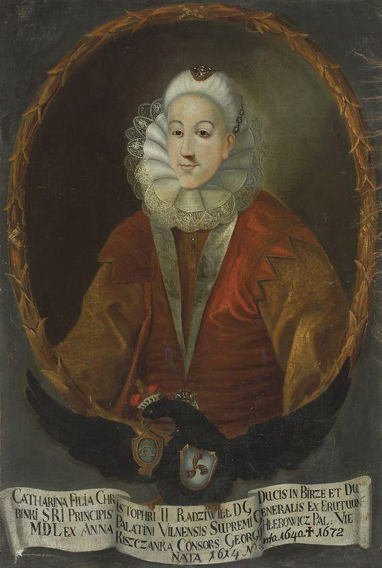 Tytuł: Portret Katarzyny z Radziwiłłów Hlebowiczowej (1613-1632)  Datowanie zabytku: 1733-37  Autor - malarz: nieznany malarz polski                                               jpg (538×800)