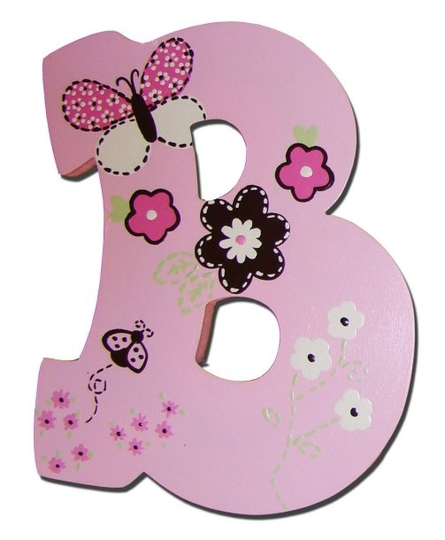 Pink Chocolate Butterfly flowers Carter's matching hand painted wooden wall letters girls name