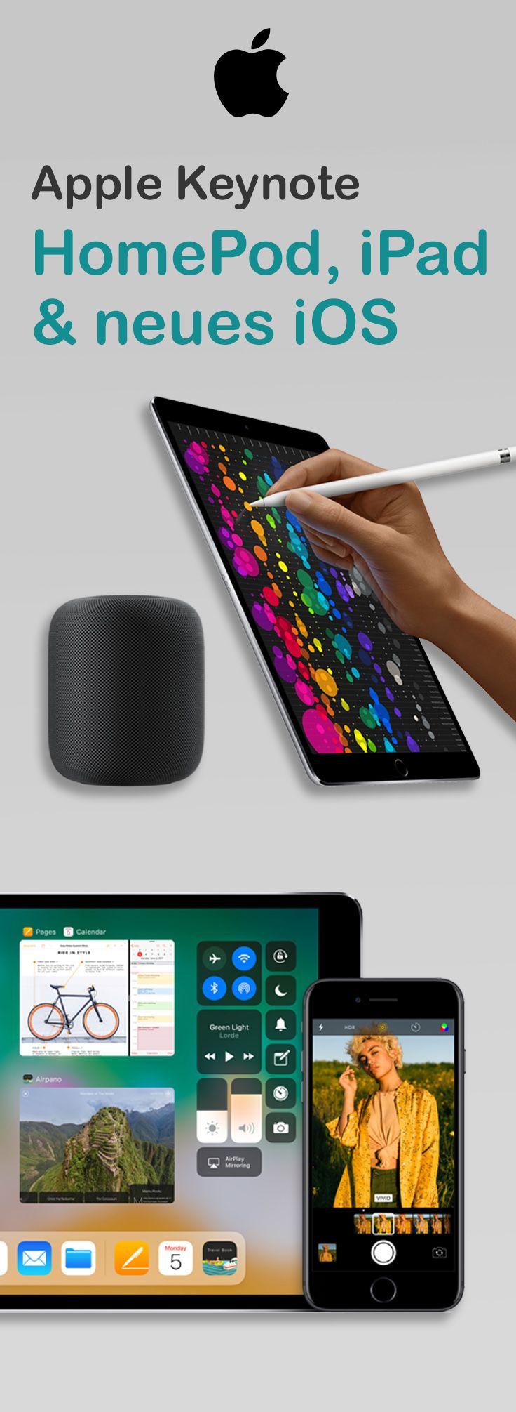 iOS 11, der HomePod und ein neues iPad bei Apple!