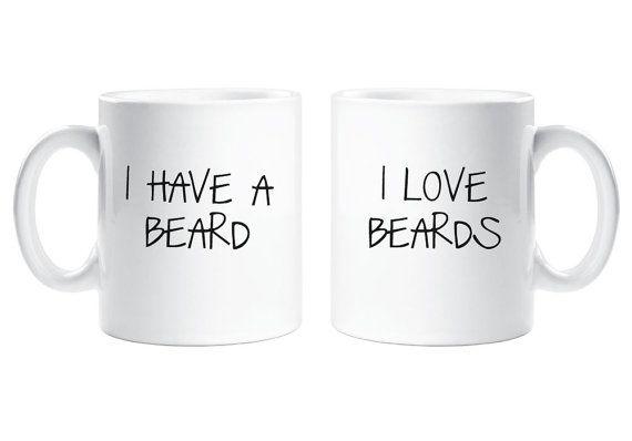 Couple Mugs I have Beard I Love Beards Mug by TheWallStickerComp