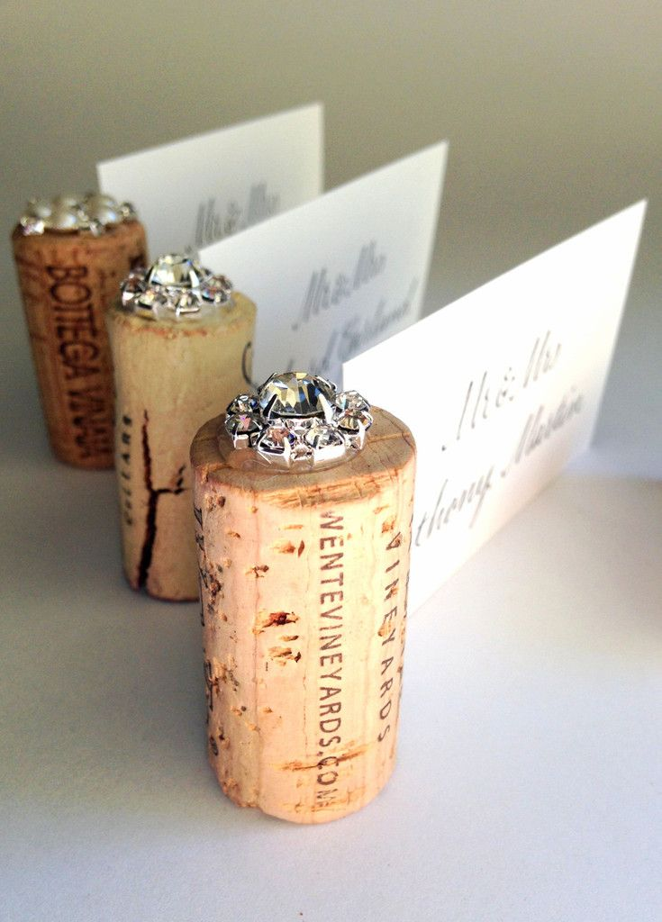 """A beautiful, elegant Place Card Holder design that will amaze your guests! WHAT PEOPLE ARE SAYING """"The corks are perfect, cut with precision!"""" """"LOVED the final products. I ordered 80 of these corks as More"""
