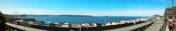 View of Seattle Waterfront from Pike Place Market....
