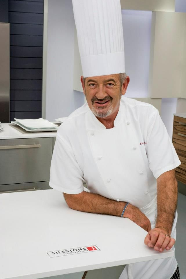 popular spanish chef karlos arguinano partnered with silestone for his tv kitchen sets