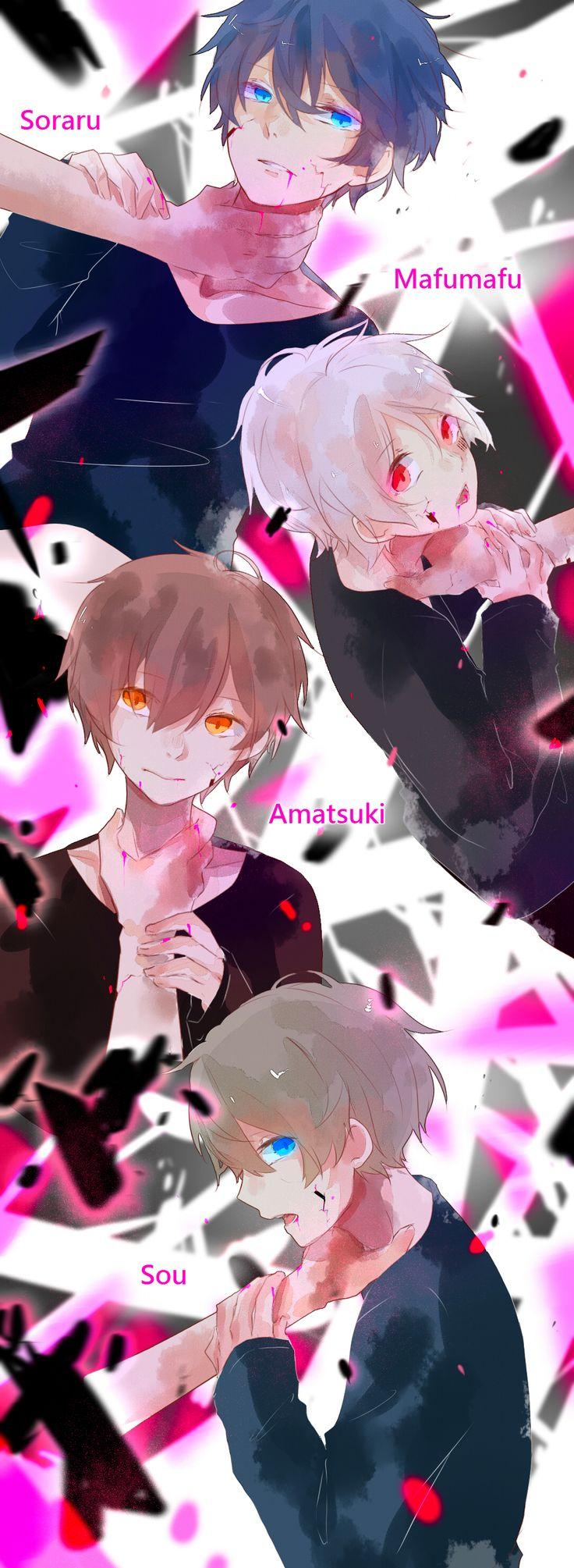 【ゴーストルール】Utaites Soraru, Mafumafu, Amatsuki, and Sou Drawn by うさぎ