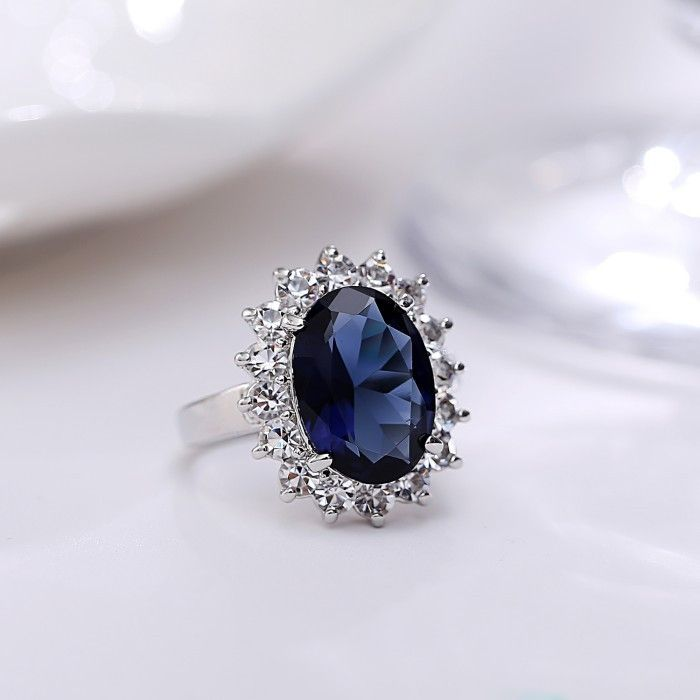 #Sapphireengagementrings - Top Quality Platinum Plated blue sapphire engagement rings Extra #coupon FB15OFF