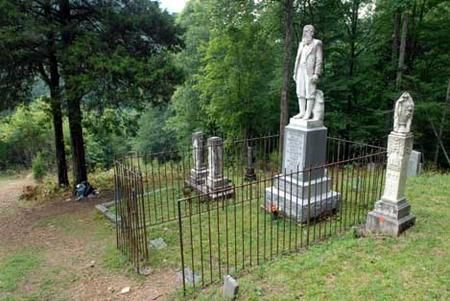 Grave and statue of Devil Anse Hatfield of the Hatfields and McCoys feud...West Virginia Charleston Mission