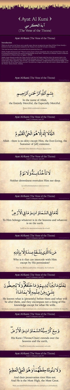 A Great Quran Verse -The Verse of The Throne Ayat Al Korsi - أية الكرسي