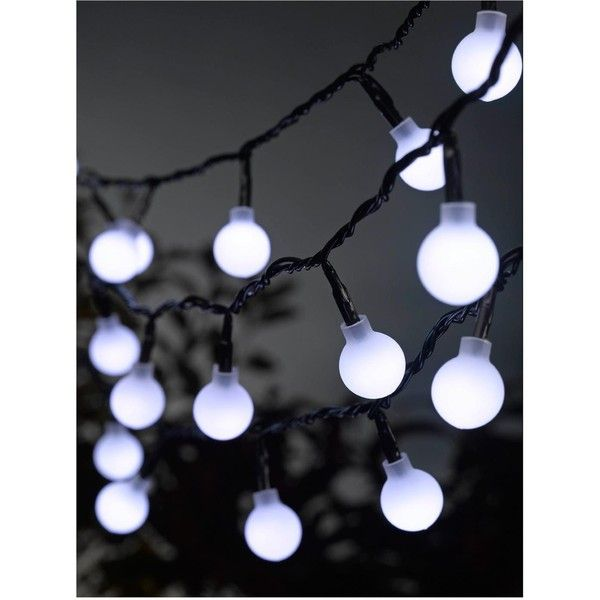Smart Garden 50 White Led Orb String Lights ($20) ❤ Liked On Polyvore  Featuring