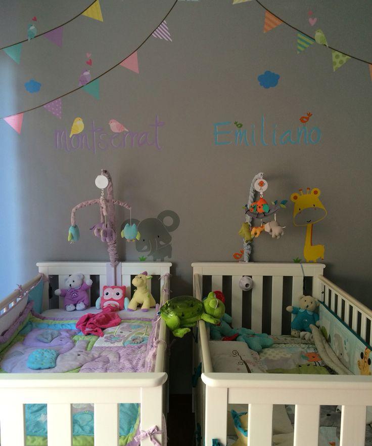Como combinar la decoración para un niño y una niña