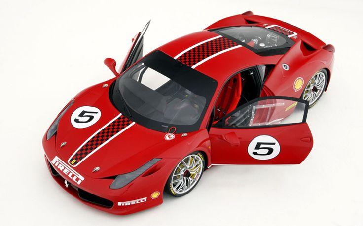 Ferrari 458 Challenge Model Car By Amalgam In 1 8 Scale