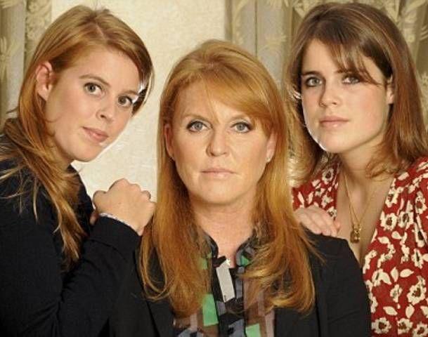 Sarah Ferguson with Daughters