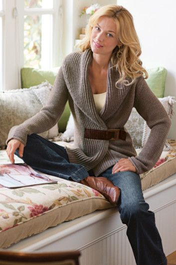 I love sweaters like this, but I always tend to look frumpy in them!