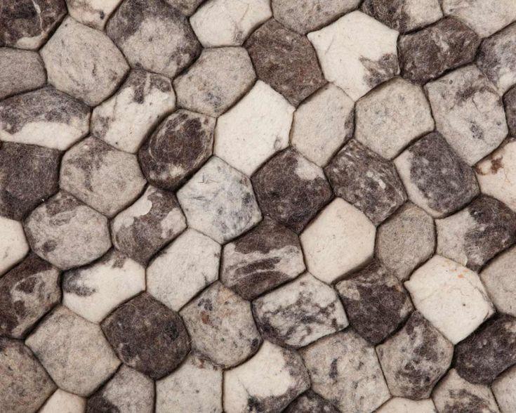 70cm tot 300cm Ronde Pebble Tapijten in Grijze Kleur Grote en Kleine Maten Nieuw-Zeeland Wol