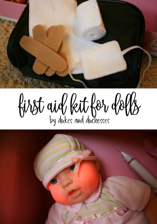 DIY first aid kit for dolls to encourage imaginative play
