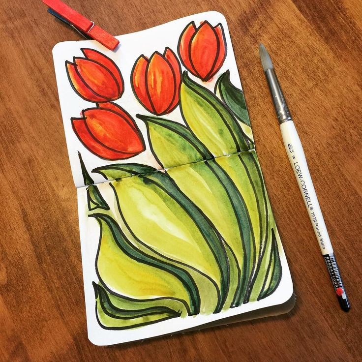 """95 Likes, 10 Comments - Chris Bennett (@christinebennettdesign) on Instagram: """"I think my tulip #doodle-mantra worked! The storm has passed (I was sure this was one of those…"""""""