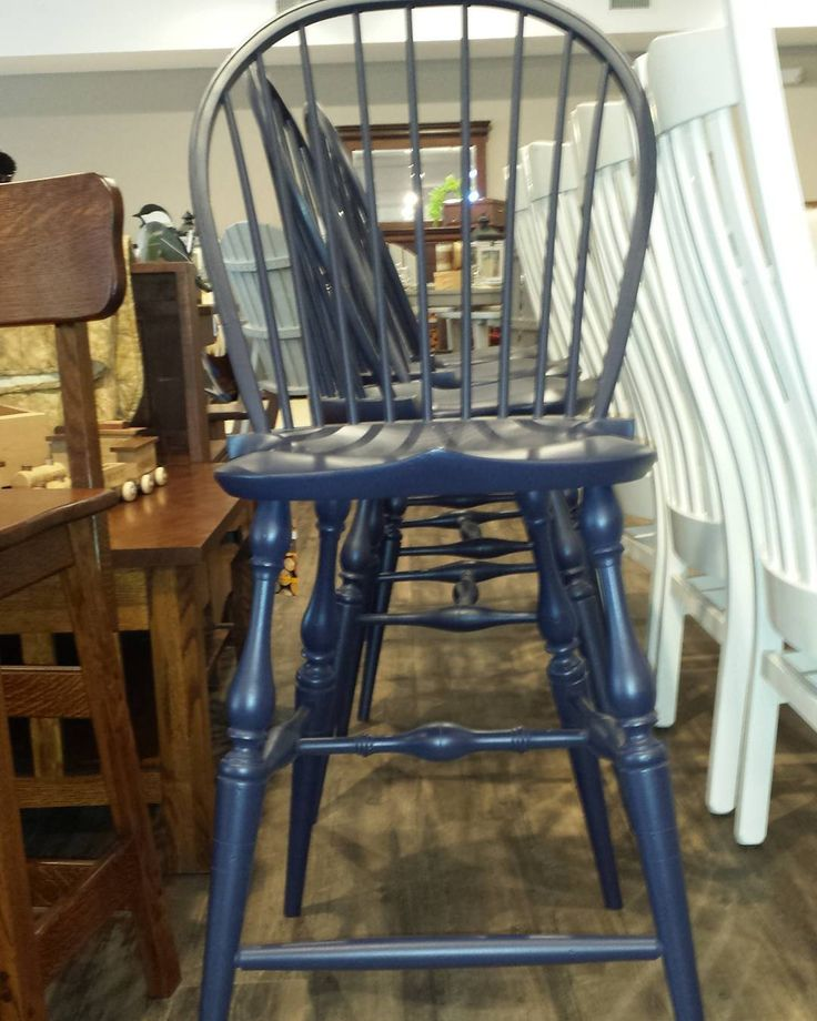 Captivating Itu0027s Never A #bluemonday With These Stunning #navyblue Amish #Windsor Side  Bar Chairs