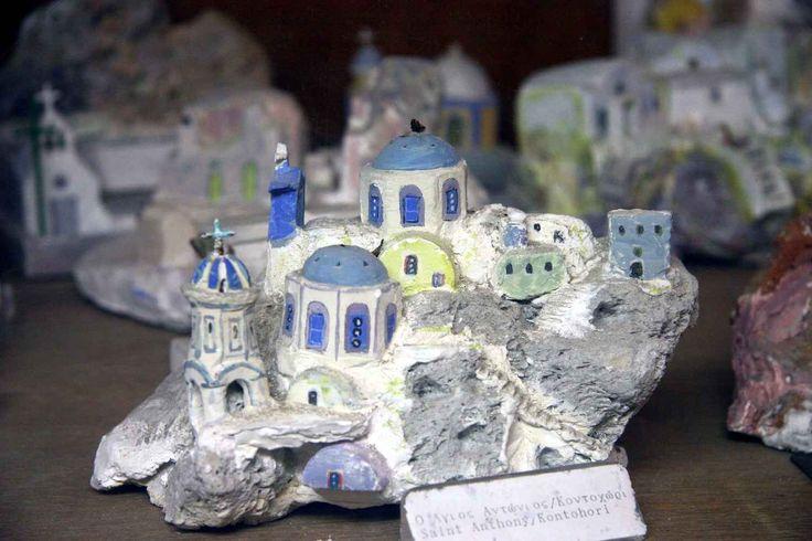 Thira, Palazzo Ghyzi: miniatura di St.Antony Kontomori