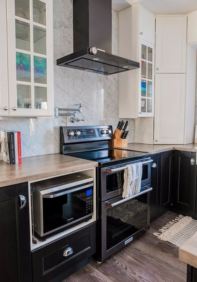 Our Kitchen Makeover With Black Stainless Steel Appliances The Diy Mommy Kitchen Fittings Black Stainless Steel Appliances Kitchen Cabinets With Black Appliances