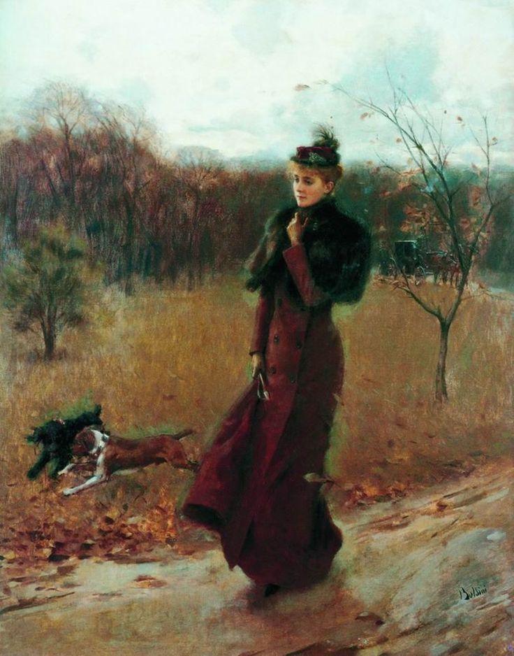 Джованни Больдини (1842—1931) Прогулка в парке.