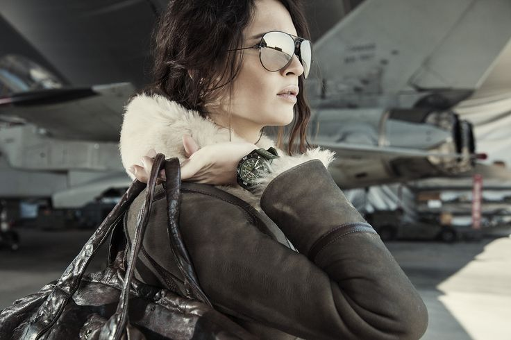 Aeronautica Militare woman Aviator shearling details