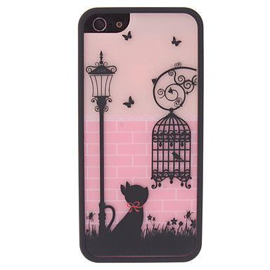 Lovely Cat and Birdcage Pattern 2 in 1 Bumper and Back Case for iPhone 5/5S – EUR € 4.59