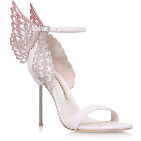 Sophia Webster Evangeline Butterfly Sandals (11,305 EGP) ❤ liked on Polyvore featuring shoes, sandals, sophia webster shoes, sophia webster, winged sandals, wing shoes and butterfly shoes
